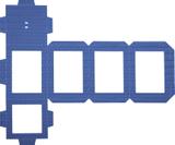 Cut-Out for Self-Locking Lantern Kit 13.5 x 18.5 cm blu
