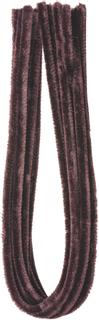 Chenilledraht Länge: 50 cm Ø 8 mm dunkelbrau