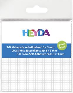 3D-Klebepads 3 x 3 x 2 mm wei