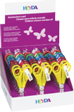 Children's Scissors Display display approx. 20 x 15 x 15/30 cm, scissors 13 cm