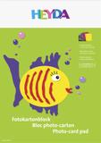 Coloured Card Pad A3 sun yellow, apricot, light red, pink, lilac, royal blue, dark green, medium br