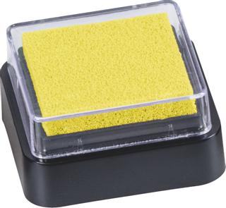 Stempelkissen Mini 3 x 3 cm gelb