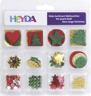 "Deko-Sortiment ""Weihnachten 2"" ""Sortierpackung"" rot/grün/goldfarben"