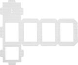 Cut-Out for Self-Locking Lantern Kit 13.5 x 18.5 cm whit