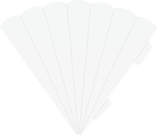 Schultüten-Zuschnitt 41 cm weiß
