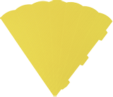 Cone Cut-Outs 41 cm yello
