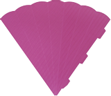 Cone Cut-Outs 3D 41 cm pink