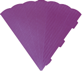 Cone Cut-Outs 3D 41 cm lilac