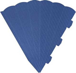 Schultüten-Zuschnitt 41 cm blau