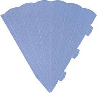 Schultüten-Zuschnitt 41 cm hellblau