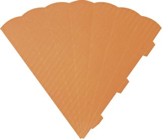 Schultüten-Zuschnitt 41 cm orange