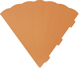 Cone Cut-Outs 3D 41 cm orange