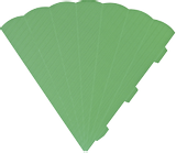 Cone Cut-Outs 3D 41 cm green