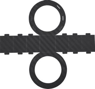 Rundlaternen-Zuschnitt Ø 22 cm schwar