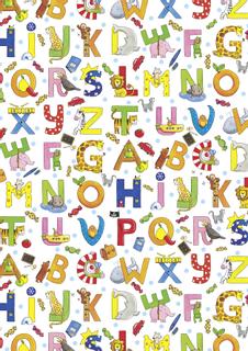"Motivkarton Kids Color ""Buchstaben"" 50 x 70 c"