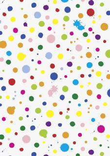 "Motivkarton Kids Color ""Kleckse"" 50 x 70 c"