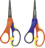 Craft Scissors Left-handers 13.5 cm bow colours: blue/yellow/orang