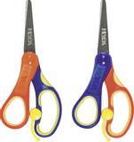 Children's Scissors Soft Touch for left-handed 13.5 cm bow colours: blue/yellow/orange