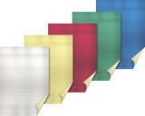 Aluminium Films for Crafts A4 silver-coloured, gold-coloured, red, green, blu