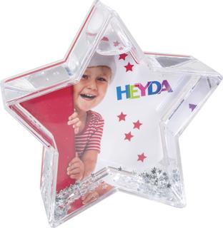 "Snow Globe ""Sparkling Star"" 10 x 10 cm, display approx. 20 x 17 x 26 cm"