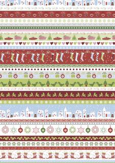 """Motivkarton """"Sweet Home Weihnachten"""" """"Streifen"""" 50 x 70 cm ro"""