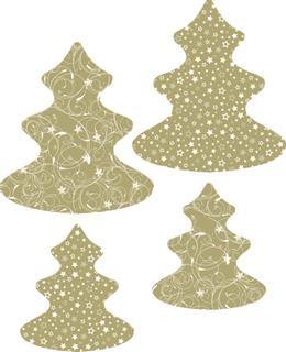 "Papier-Set ""Baum"" goldfarben"