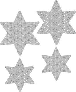 """Papier-Set """"Fächerstern"""" grau, silberfarbe"""