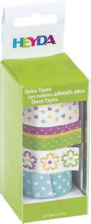 "Deco Tapes ""Flowers"" each roll 5 m x 15 m"