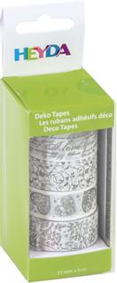 """Deko Tapes Weiße Feste """"Herzen"""" jede Rolle 5 m x 15 m"""