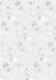 """Transparent Paper """"Hearts big"""" A4 (21 x 31 cm incl. coding strip"""