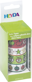 """Deco Tapes """"Apples"""" each roll 5 m x 15 mm"""