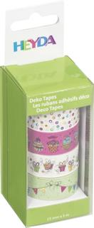 "Deko Tapes Party ""Girlande"" jede Rolle 5 m x 15 mm bunt"