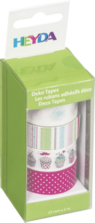 "Deco Tapes ""Pompons"" each roll 5 m x 15 mm paste"