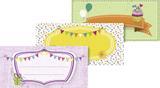 """Stick-On Labels """"Party"""" 9.5 x 4.5 cm multi-colour"""
