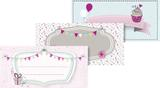"""Stick-On Labels """"Party"""" 9.5 x 4.5 cm pastel"""