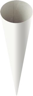 Geschwistertüten-Rohling 35 cm Ø 11 cm weiß