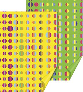 """Motivkarton """"HEYDA Fun"""" """"Punkte"""" 50 x 70 cm gelb/grü"""