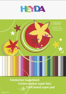 Fotokarton-Superblock 24 x 34 cm 25 Farbe