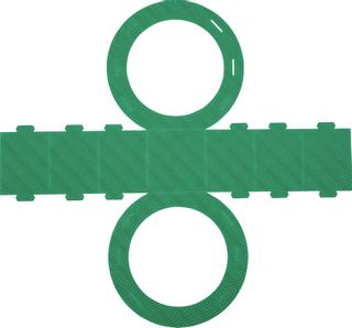 Rundlaternen-Zuschnitt Ø 22 cm grü