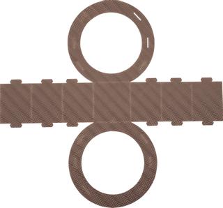 Rundlaternen-Zuschnitt Ø 22 cm braun