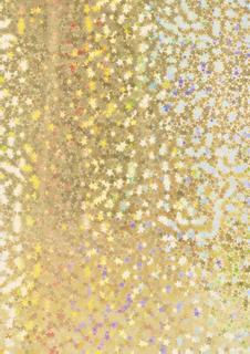 """Holografie-Karton """"Sterne"""" 50 x 70 cm goldfarbe"""