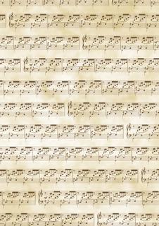 "Transparentpapier ""Noten"" A4 (21 x 31 cm inkl. Codierleiste) antikbrau"