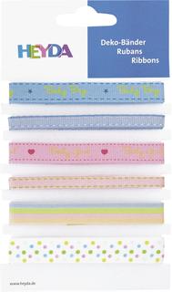 """Deko-Bänder """"Baby"""" 0,6 - 1,2 cm x 90 cm"""