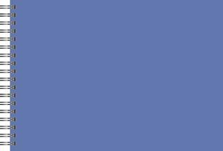 Scrapbook- und Kreativalbum 24 x 34 cm blau/champagne