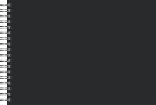 Scrapbook- und Kreativalbum 24 x 34 cm schwarz/schwar