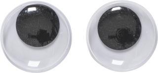 """Wackelaugen """"rund"""" Ø 20 mm weiß mit schwarzer Pupill"""