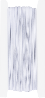 Elastic Cord for hats 25 m x 1.2 mm whit
