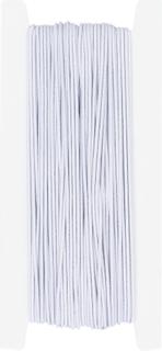 Hutgummi-Kordel 25 m x 1 mm wei