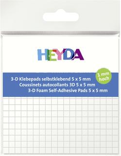 3D-Klebepads 5 x 5 x 1 mm wei