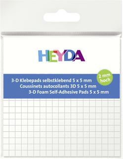 3D-Klebepads 5 x 5 x 2 mm wei